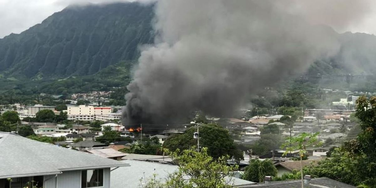 Family of 7 displaced after Kaneohe house fire