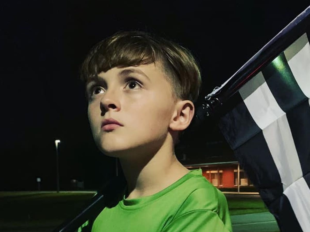 This 11-year-old runs a mile for each officer killed in the line of duty. Tonight, he ran 2 more