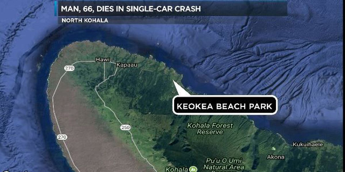 Man dies after crashing into tree in Kapaau