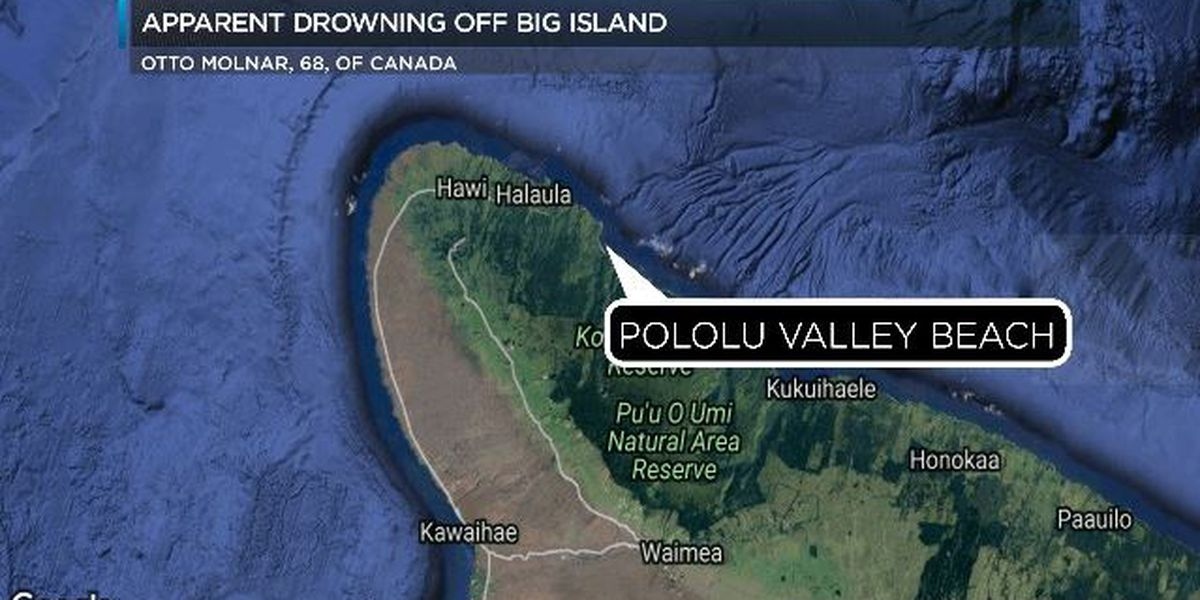 Visitor from Canada dies in apparent drowning off Hawaii Island