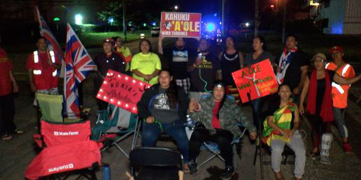 Kahuku wind farm opponents plan another protest in bid to stop equipment transport