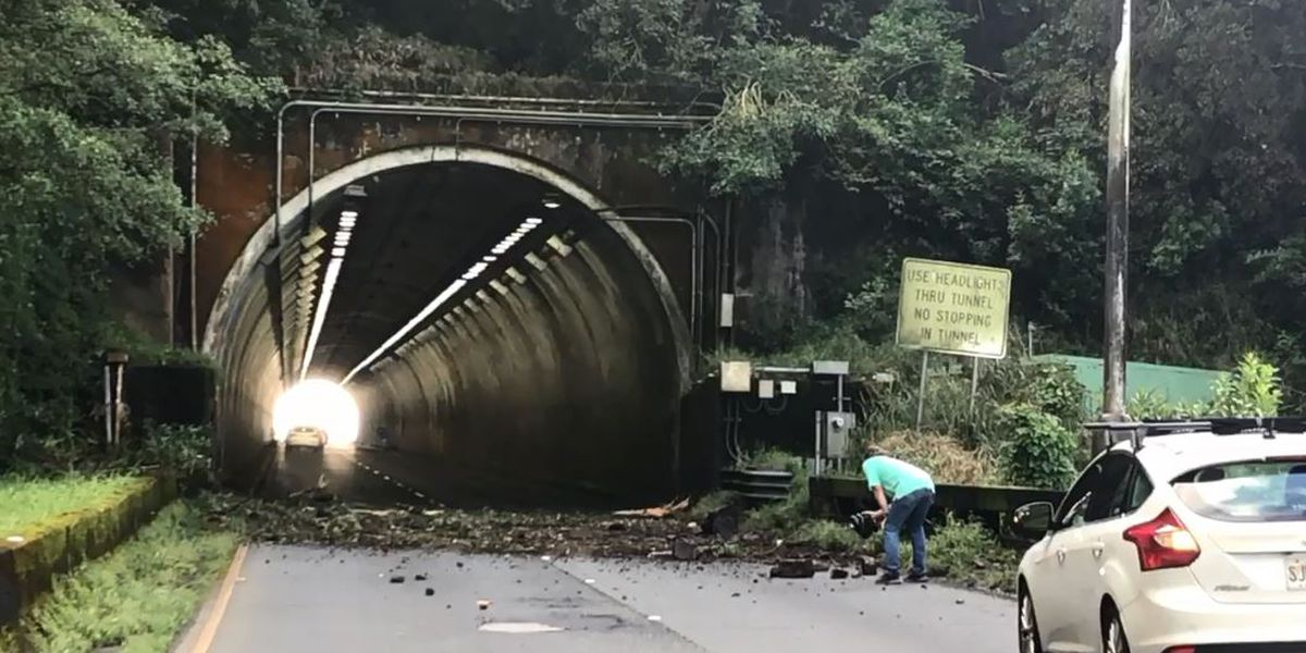 DOT: Landslide cleanup, repair work on Pali Highway could last through the week
