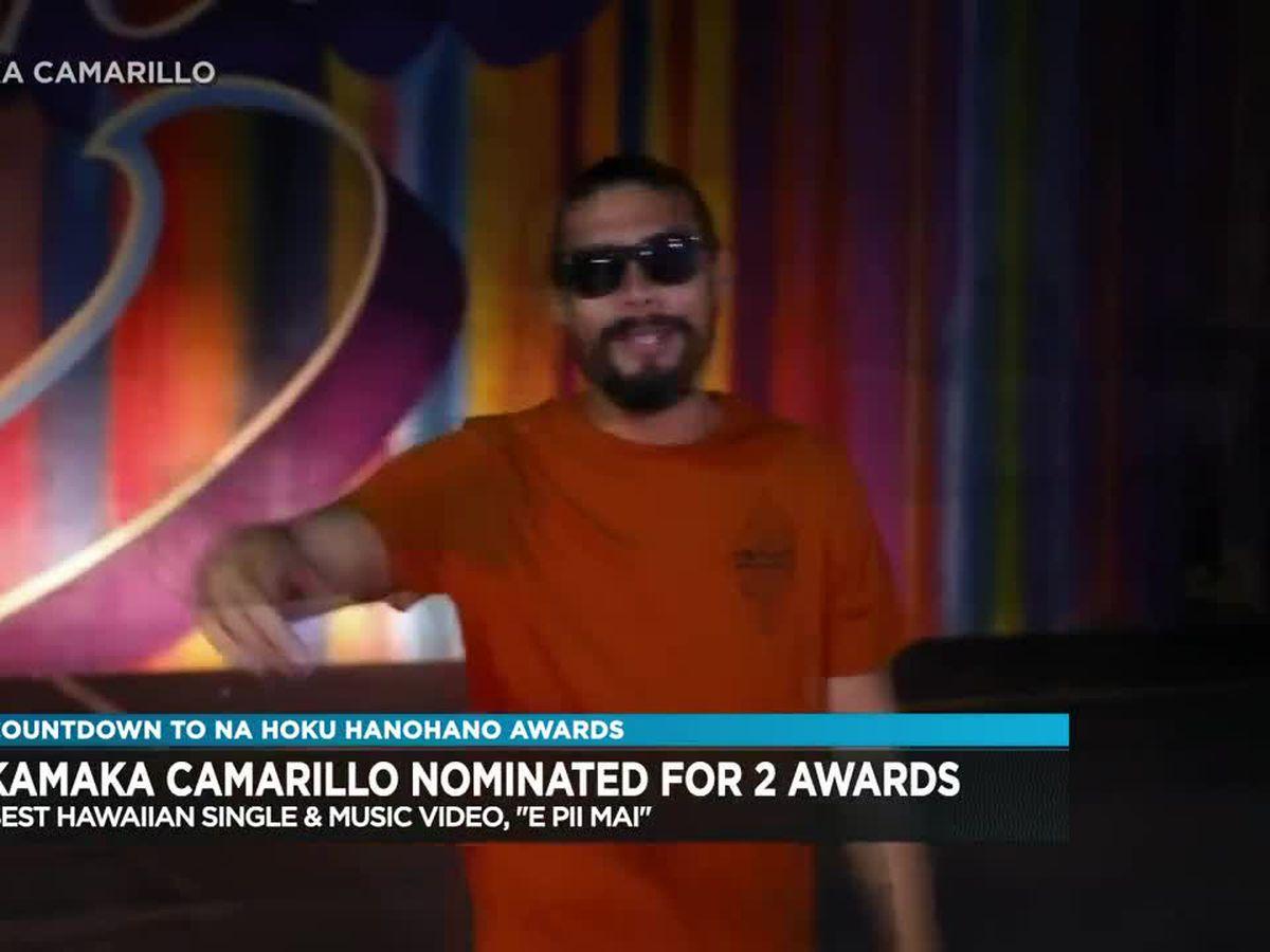 Kamaka Camarillo nominated for best Hawaiian single and music video in 2019 Na Hoku Hanohano awards