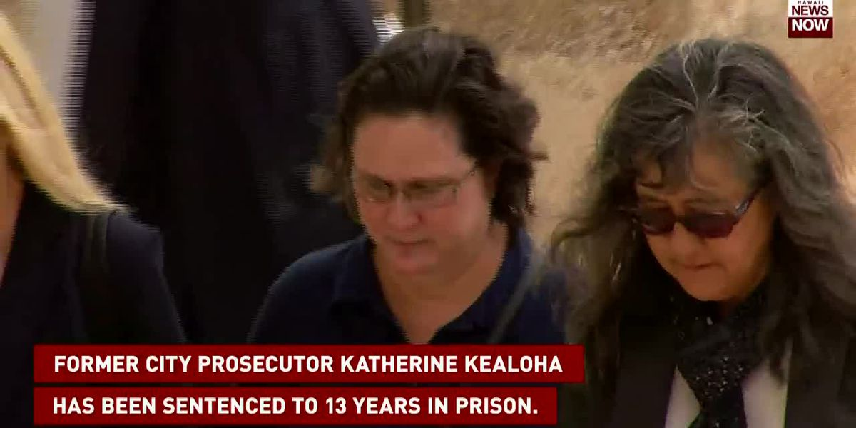 Former city prosecutor Katherine Kealoha has been sentenced to 13 years in prison