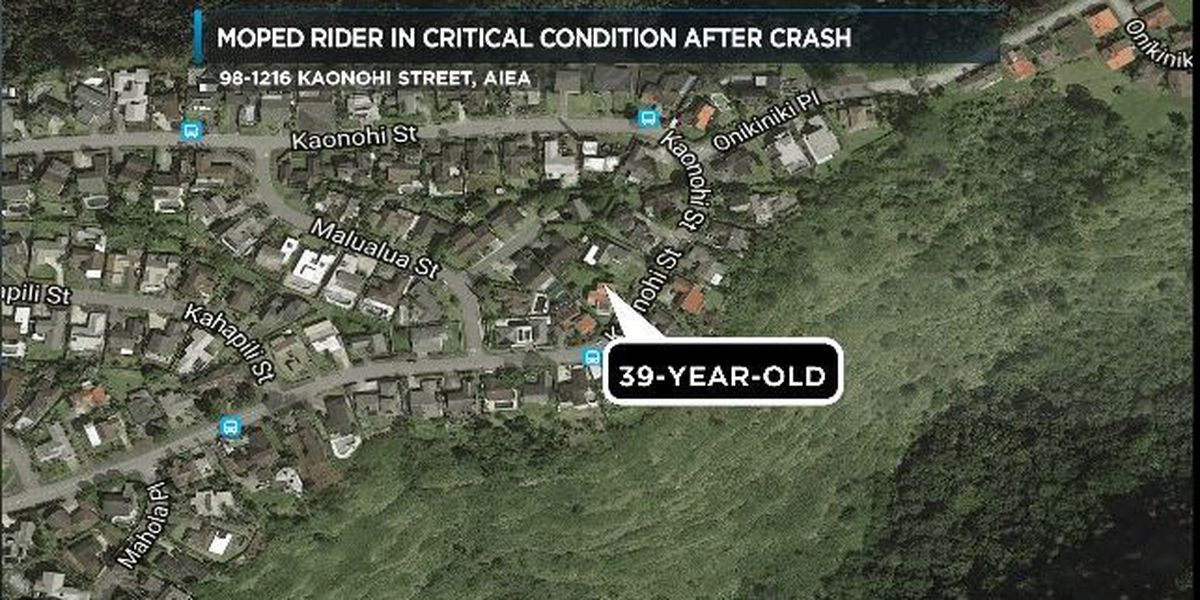 Moped rider dies after crashing into mailbox