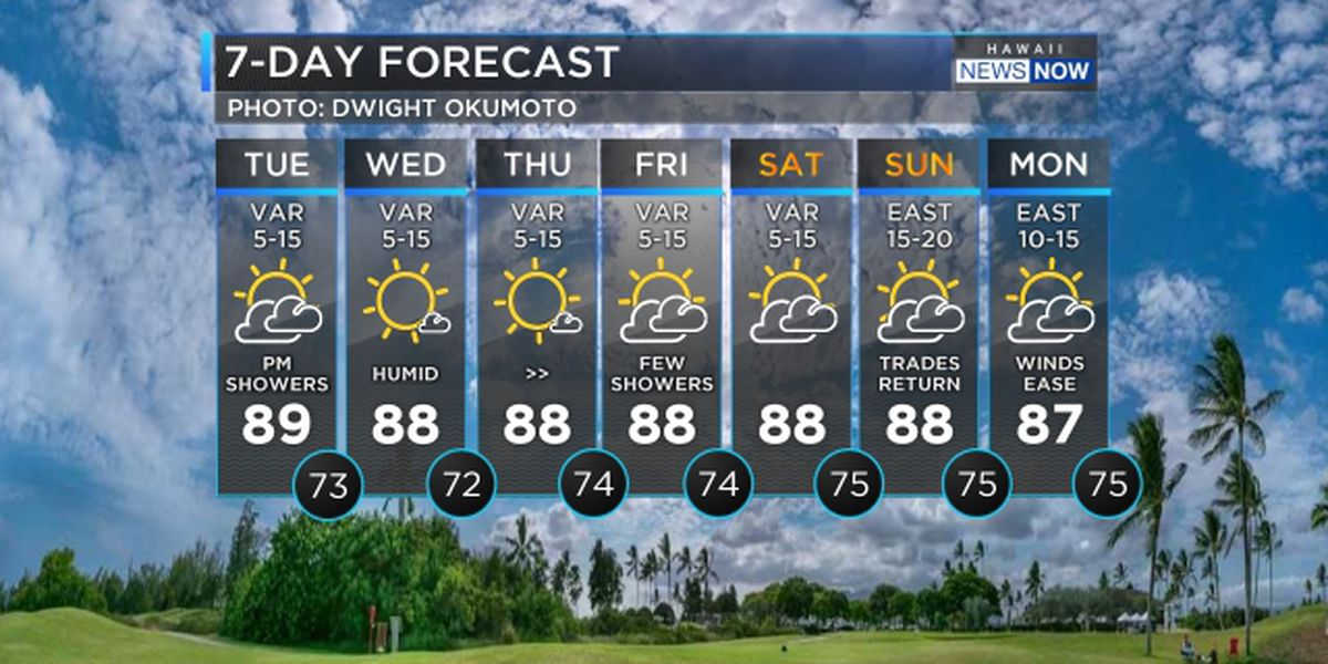 Forecast: Humid conditions to persist through the weekend