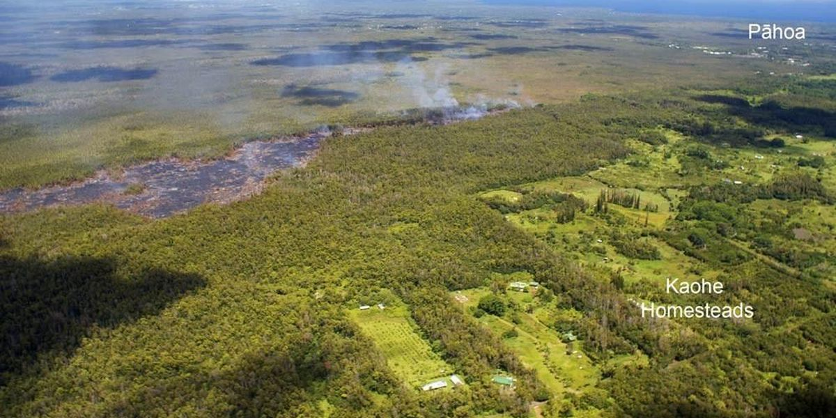 Puna lava flow slows considerably, but continues steady march toward Pahoa