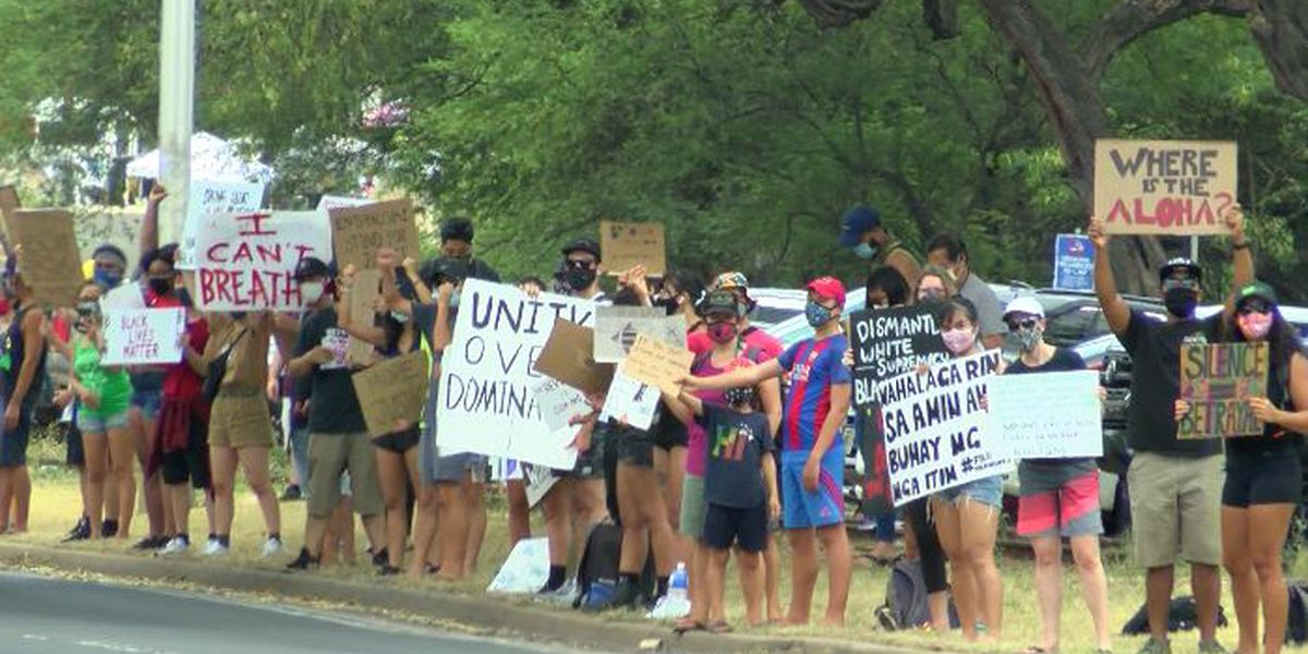 Hawaii's weekend Black Lives Matter protests drew thousands statewide