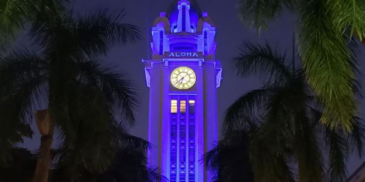 Aloha Tower to be illuminated in blue to honor 2 fallen officers