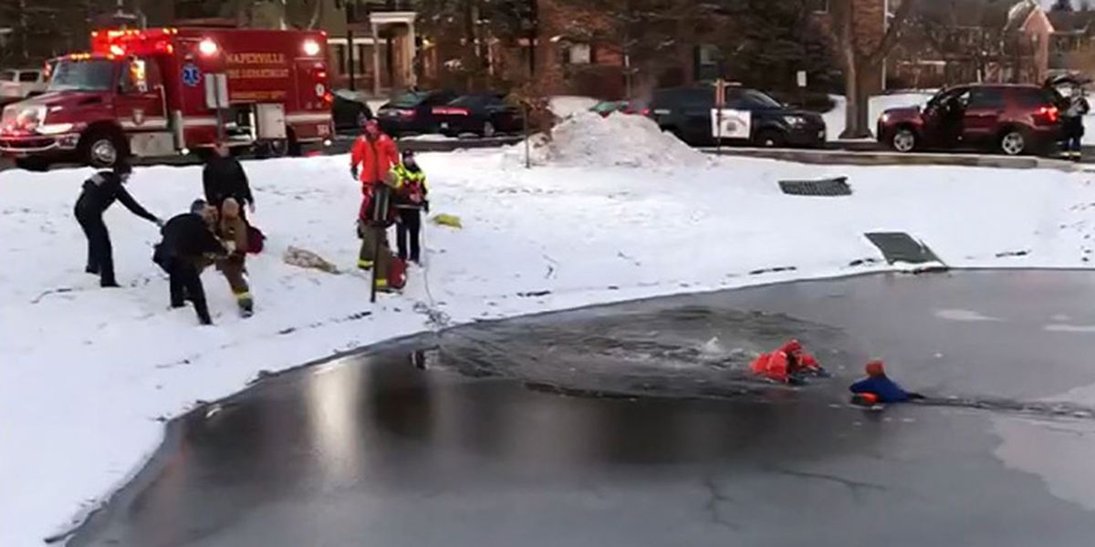 11-year-old boy falls through ice; police and fire rescue him in minutes