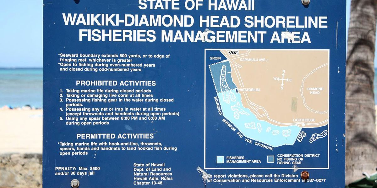 Year-long ban on fishing along a south Oahu shoreline to begin Friday