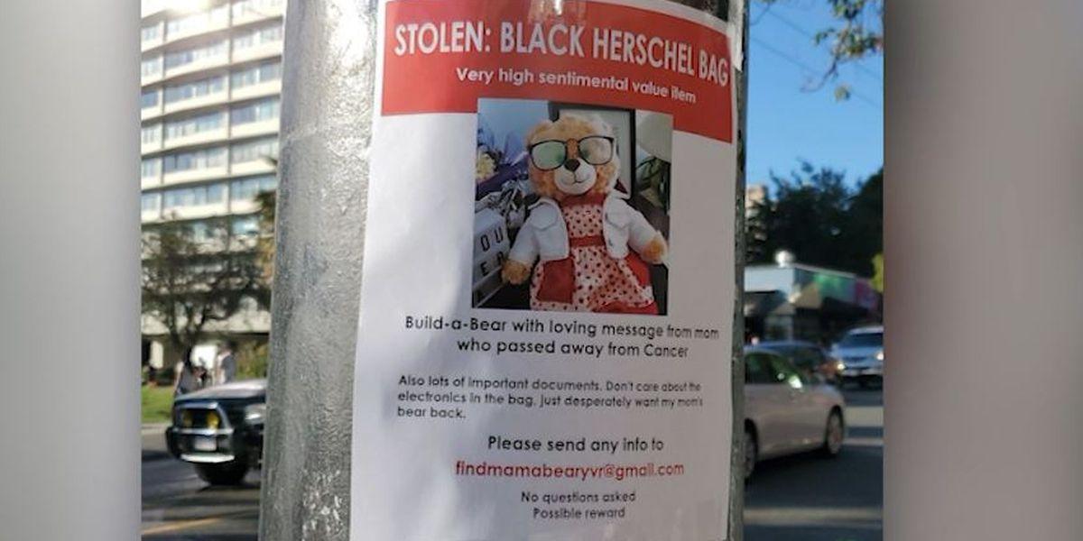 Ryan Reynolds offers $5,000 reward for return of woman's teddy bear