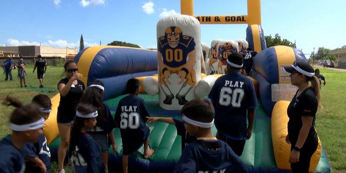 Rams host Play 60 at Nanaikapono Elementary