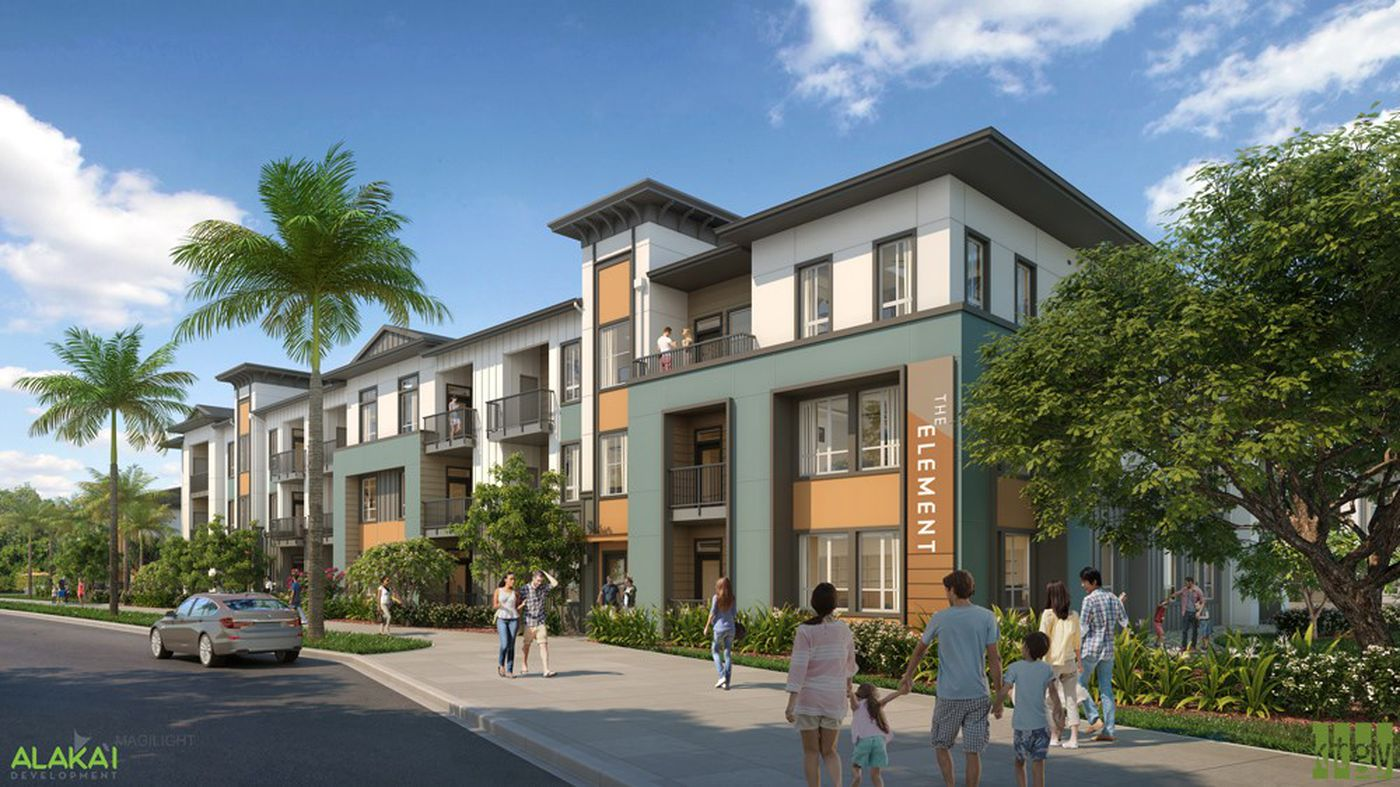Officials broke ground Tuesday on a new and upcoming affordable housing project in Kapolei.