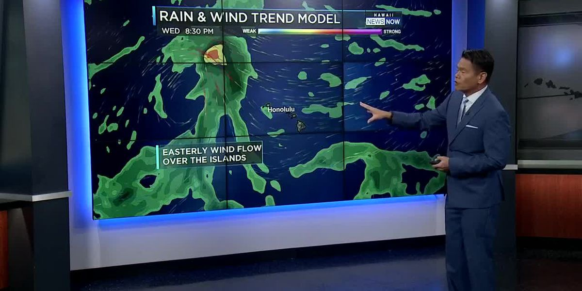 Forecast: Drier, more stable trade wind weather moving back in