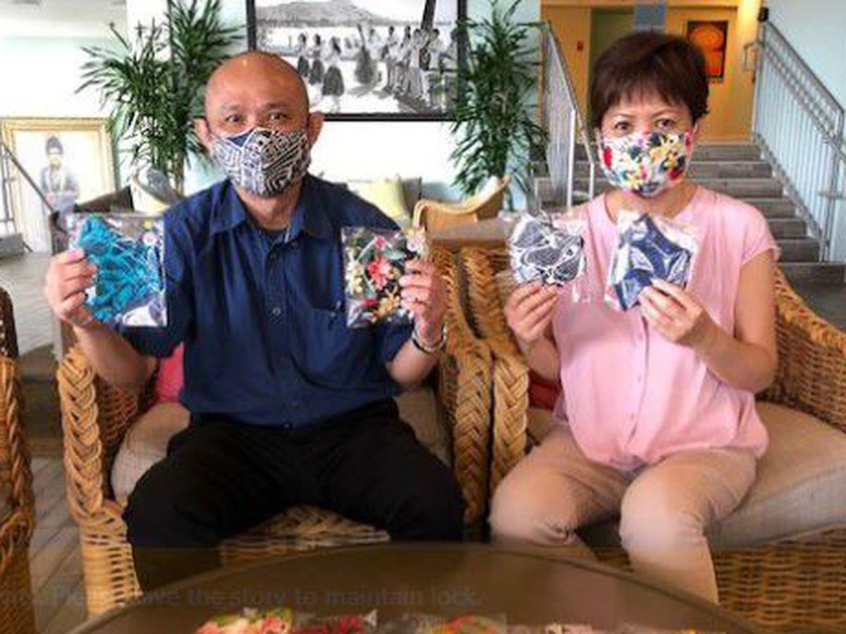 Oahu couple's generosity blossoms into mask-making business