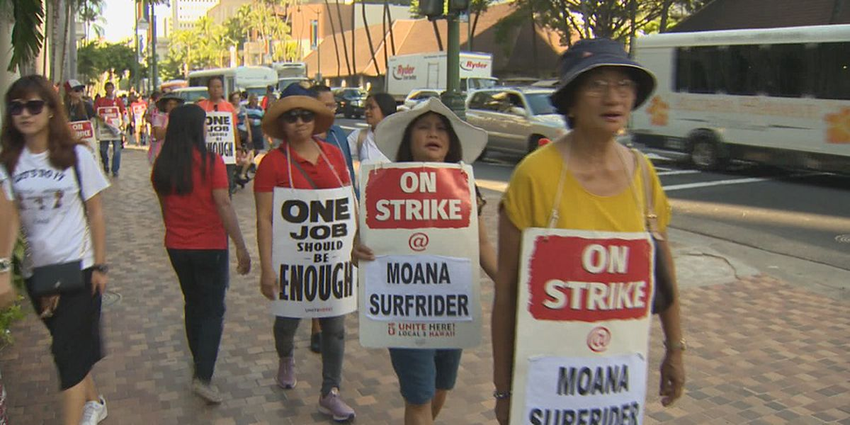 Hotel workers strike grinds into second week as negotiations scheduled