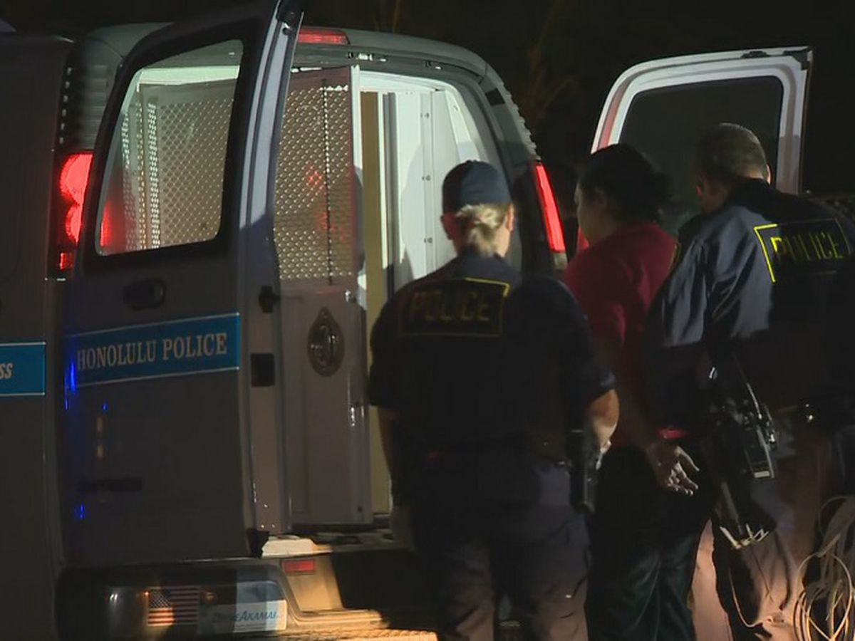 In quick process, police arrest 40 protesters as convoy successfully moves to Kahuku