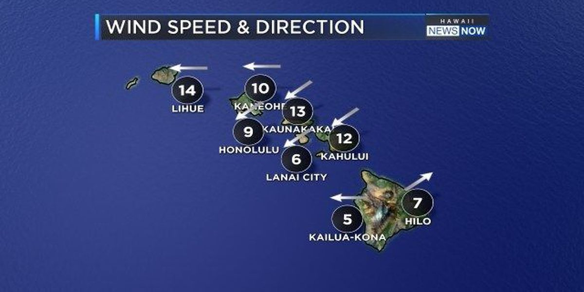 Forecast: Diminishing trade winds will make for a humid Thursday