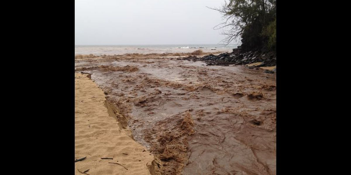 Brown Water Advisories issued for some Maui beaches following heavy rain