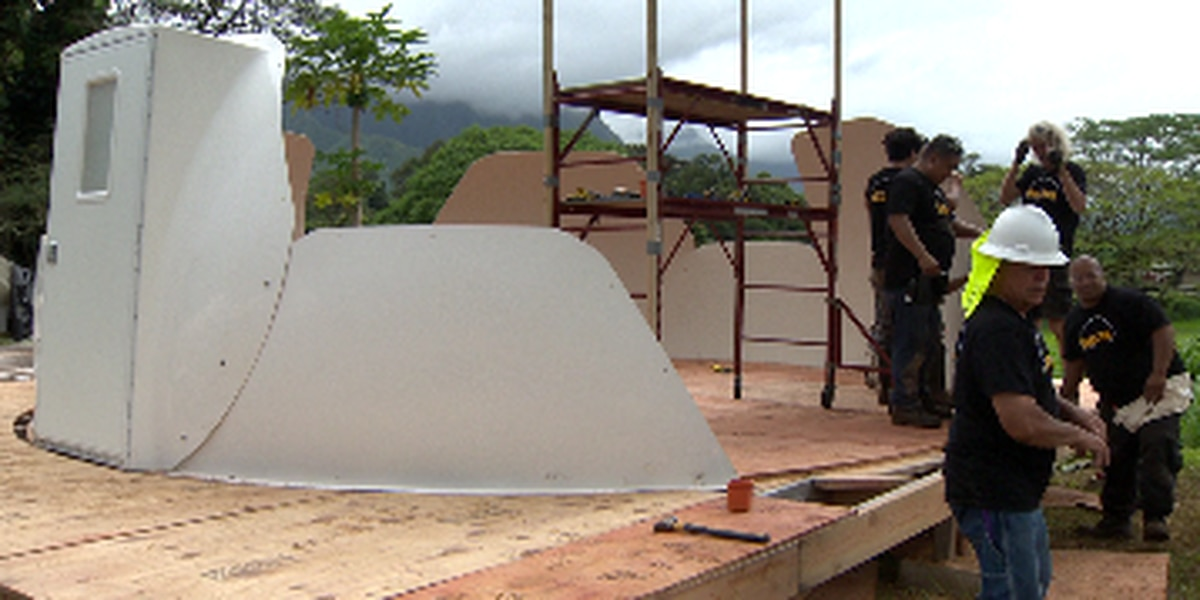 After years of debate, construction has begun on igloo-shaped shelters for homeless