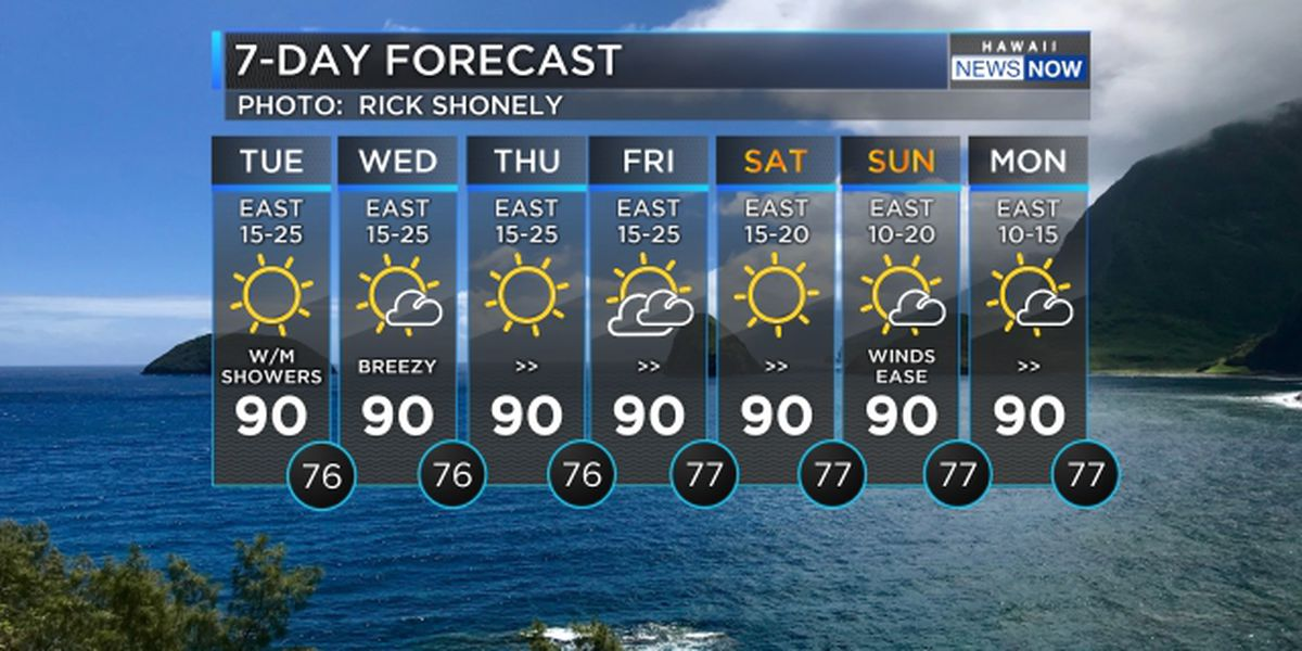 Forecast: Breezy trade winds with comfortable conditions