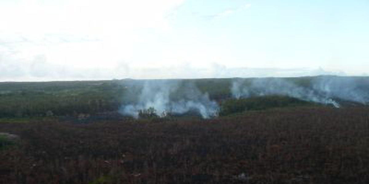 Puna lava flow's leading edge remains active as breakout pushes forward
