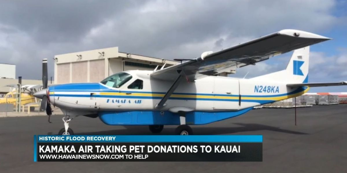 Humane society, local airline, collecting donations for pets affected by Kauai floods
