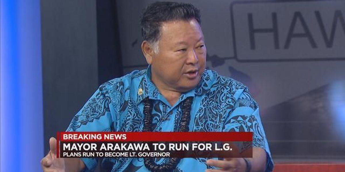 Maui Mayor Arakawa says he plans to run for lieutenant governor
