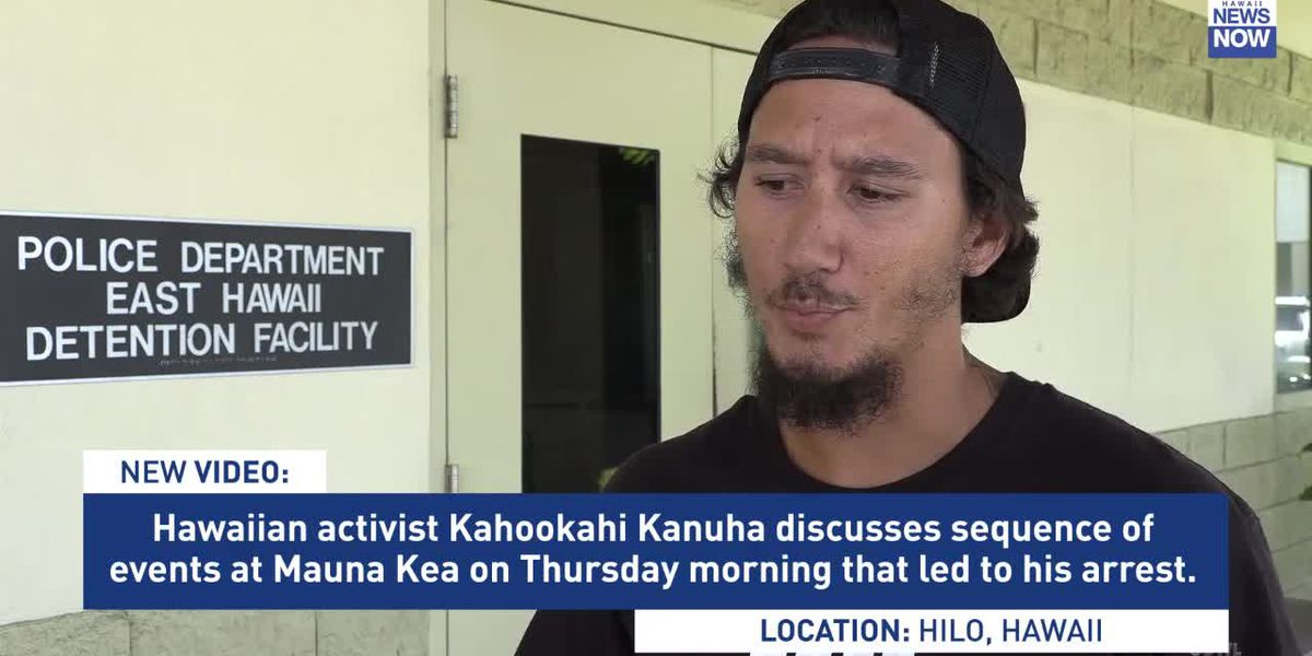 Activist arrested on Mauna Kea describes scene as state agencies arrived Thursday morning