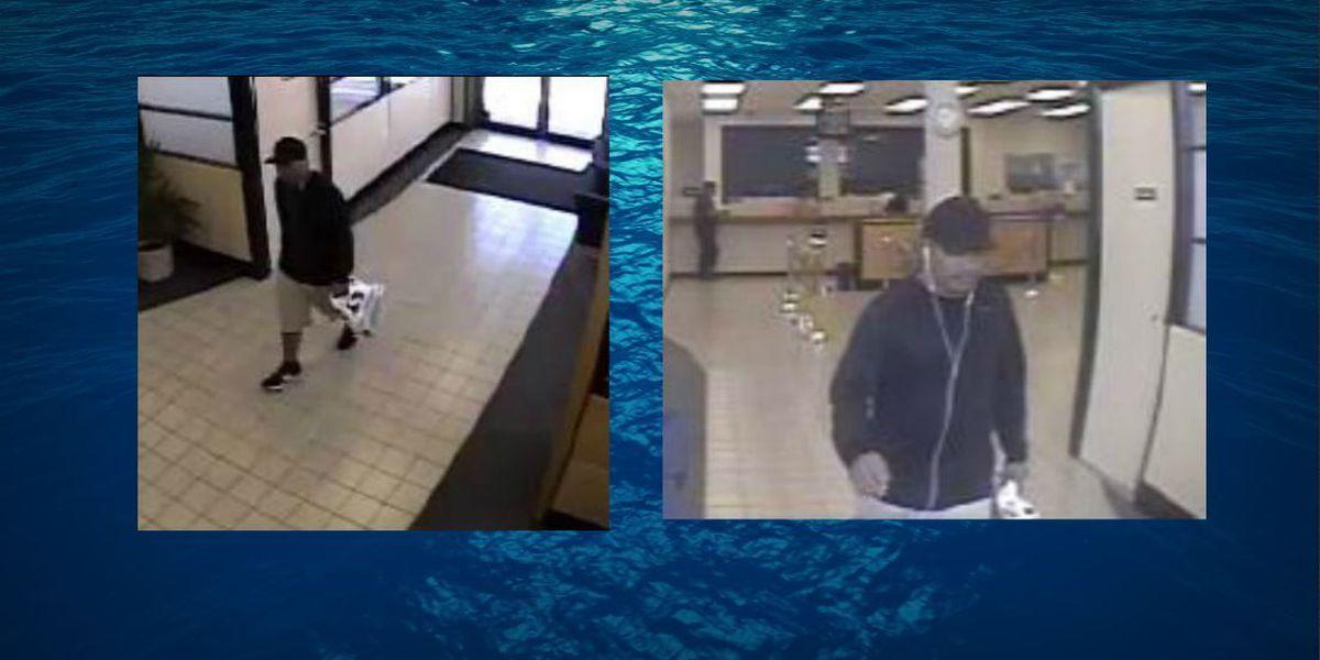 Honolulu police searching for Waipahu bank robbery suspect