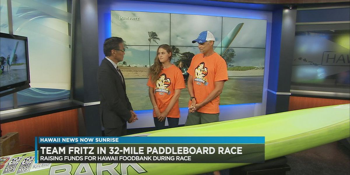 Father and daughter to 'paddle for hunger' for Molokai to Oahu championships