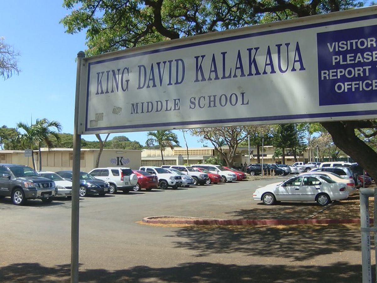 Water main break forces closure of Kalakaua Middle School