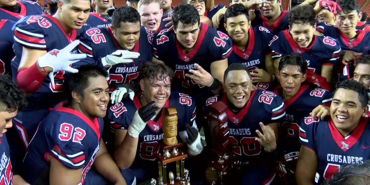Saint Louis clinches 3rd straight state title by taking down Mililani, 38-17