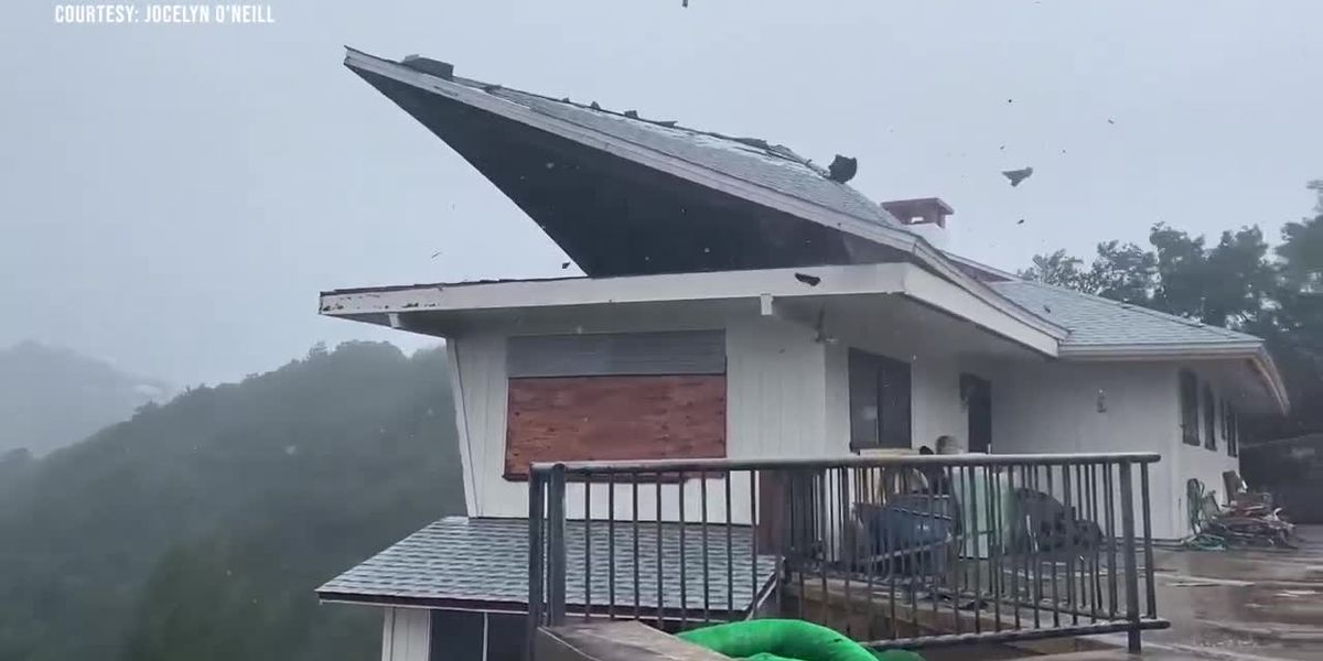 Strong winds lift roof clear off Palolo-area home