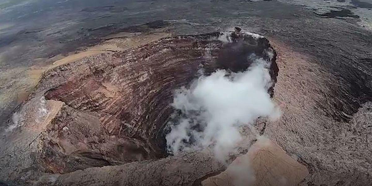 USGS: Rockfalls have decreased depth of Puu Oo by 230 feet