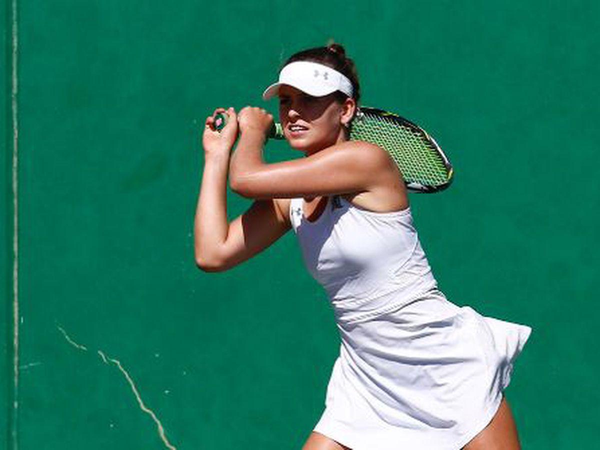 Melounova upsets LSU's Golovin in 1st round of NCAA Women's Tennis Championships