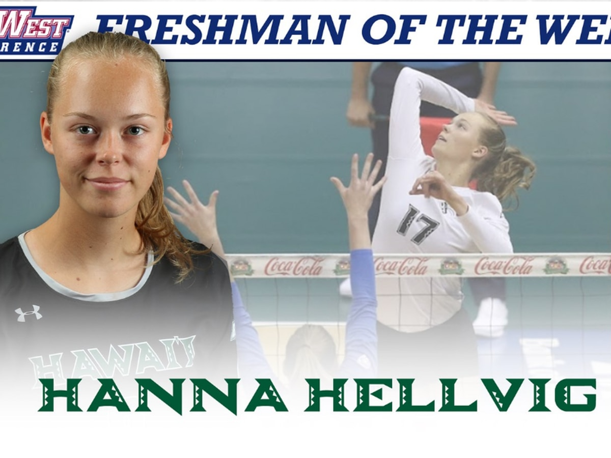 Hanna Hellvig named Big West Freshman Of The Week