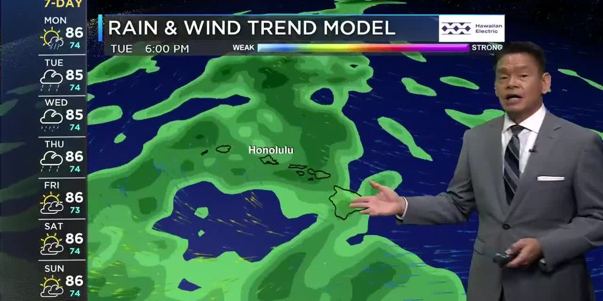 Forecast: Light winds, then a chance of heavy rain ahead