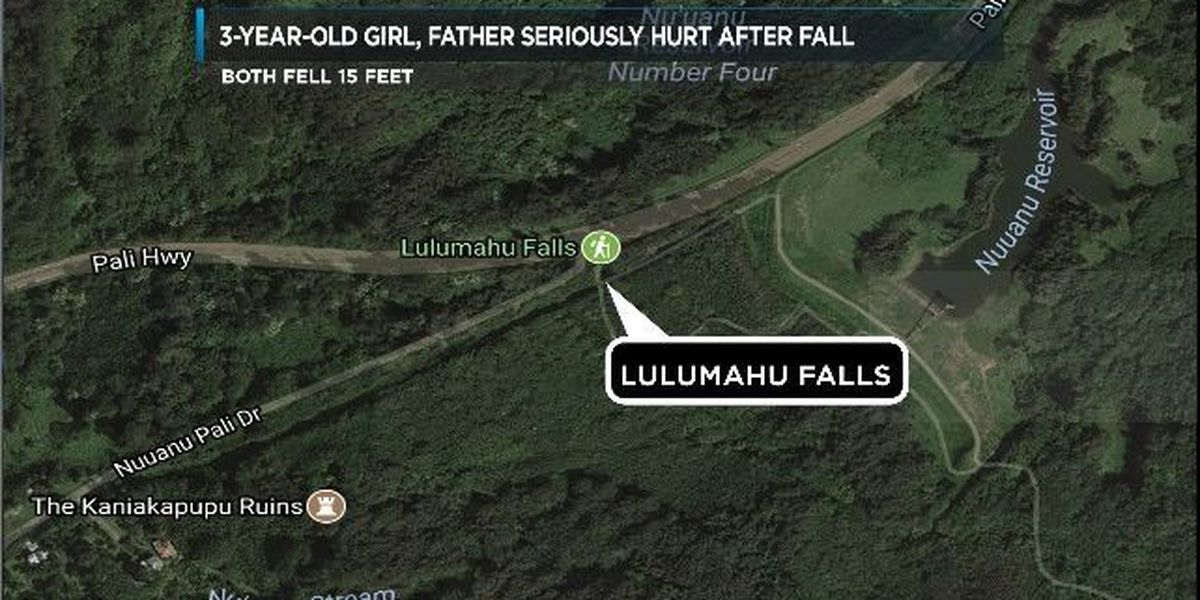 Father and 3-year-old girl among injured hikers rescued on Oahu