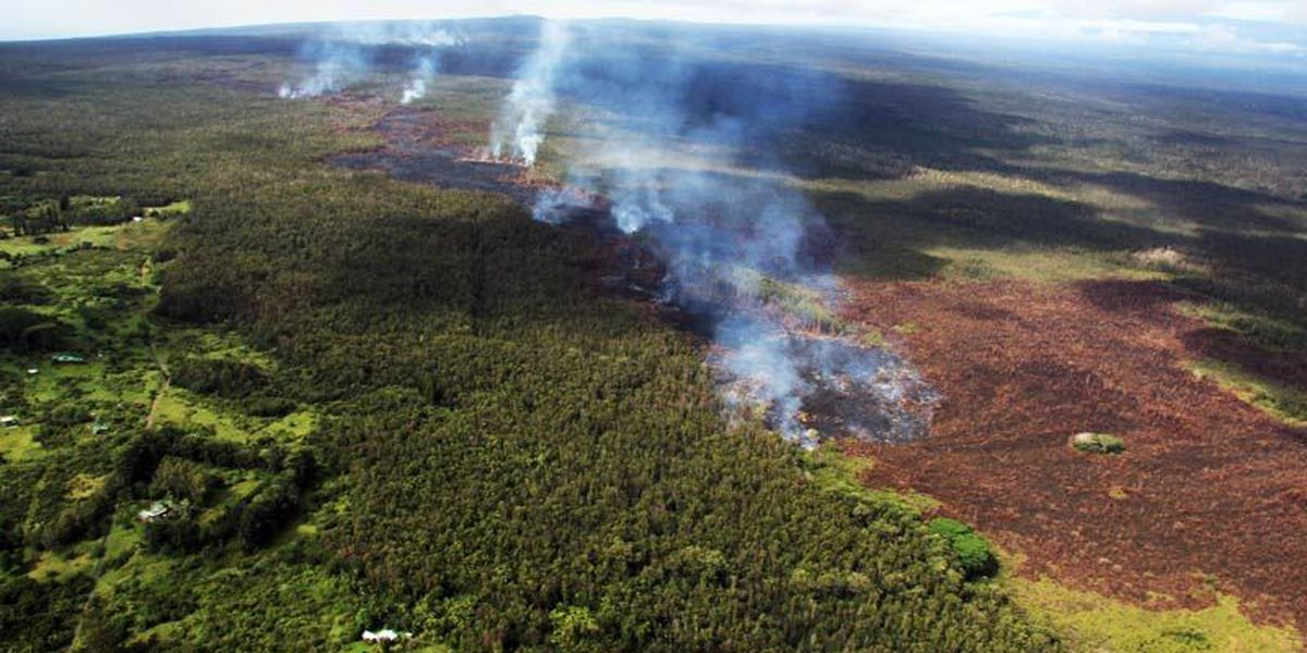 Puna lava flow breakout pushes past stalled front