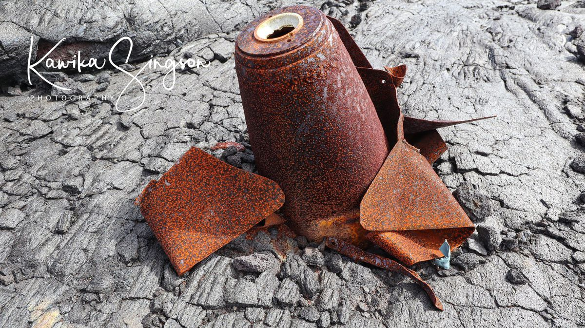 Big Island adventurer finds what appear to be live bombs in a lava field