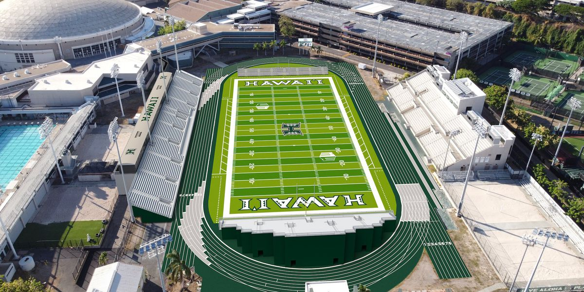 UH athletics unveils first renderings of retrofitted Clarence T.C. Ching Athletics Complex