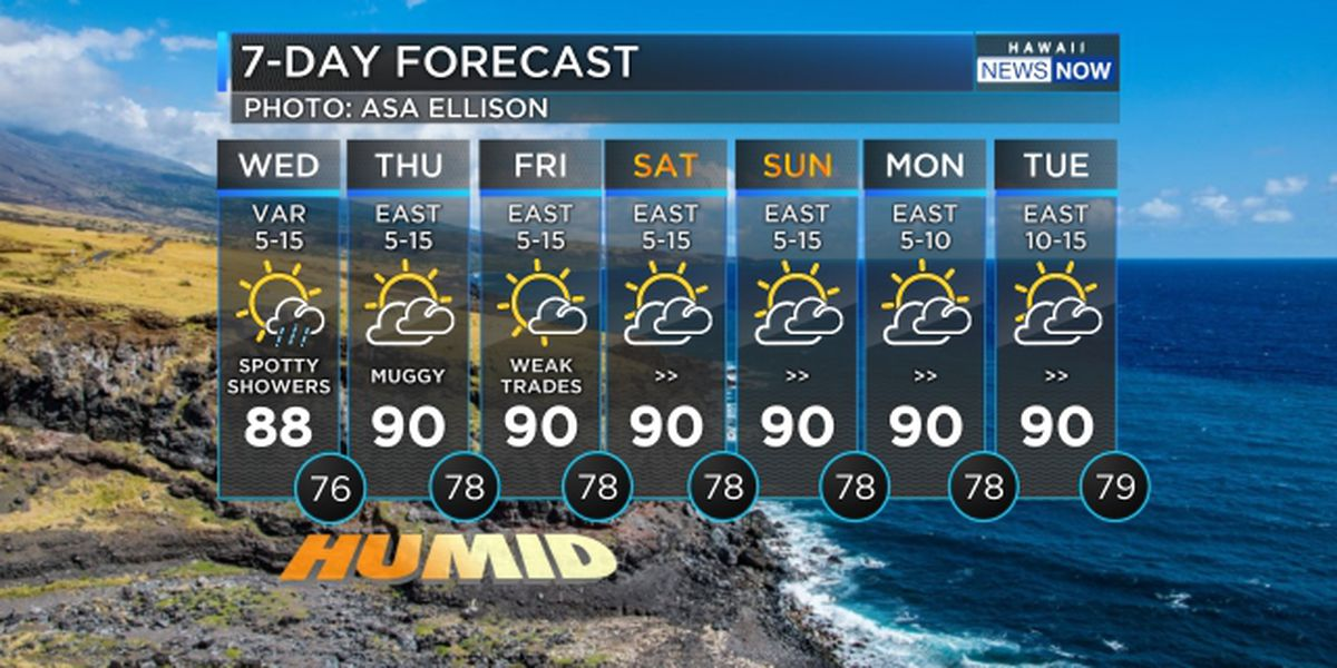 Forecast: Flossie leaves behind hot humid conditions