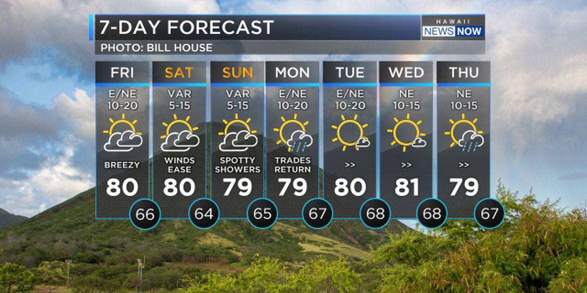 Forecast: Lighter winds heading in for the weekend