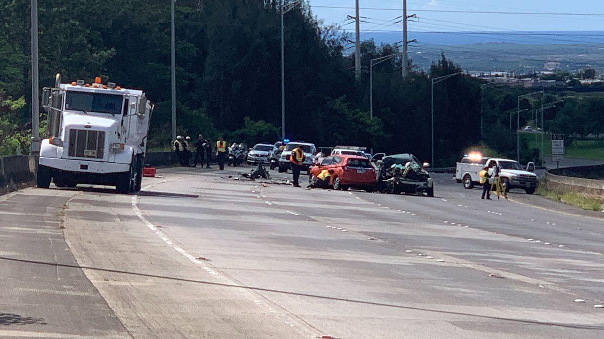 Man killed in H-2 crash in Waipio identified