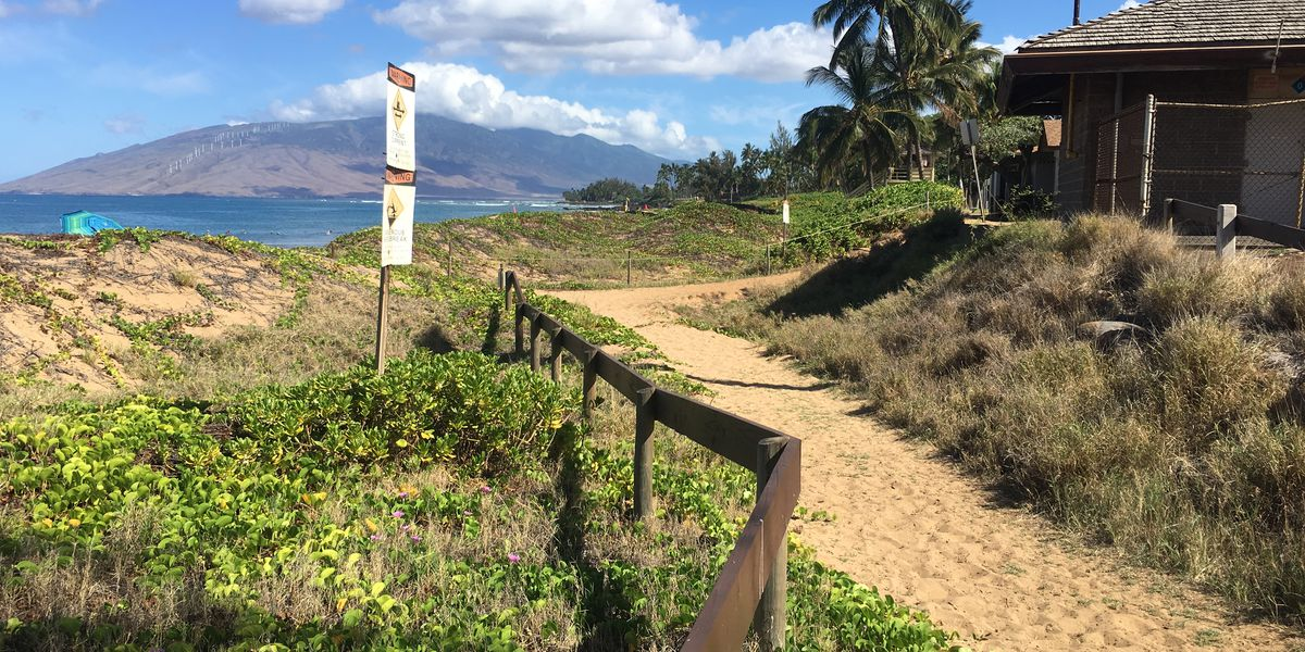 Maui County to restore eroding sand dunes at a Kihei shoreline