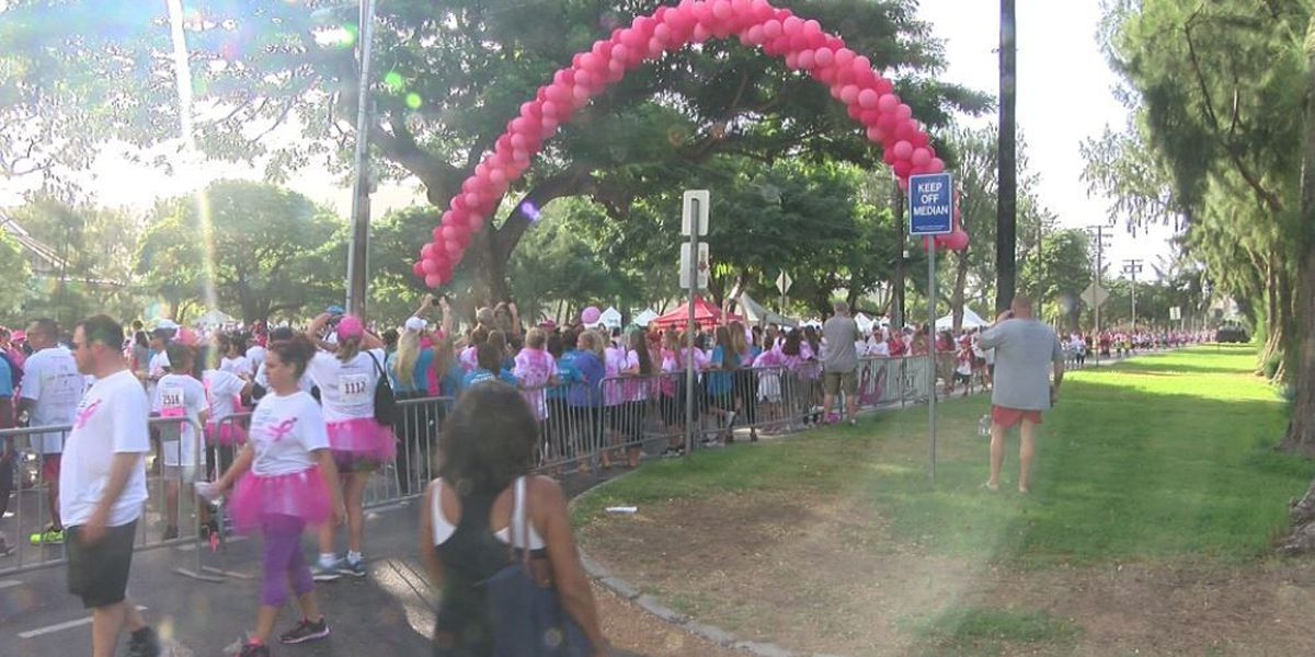 Decked in pink, thousands walk in annual Susan G. Komen 'Race for the Cure'