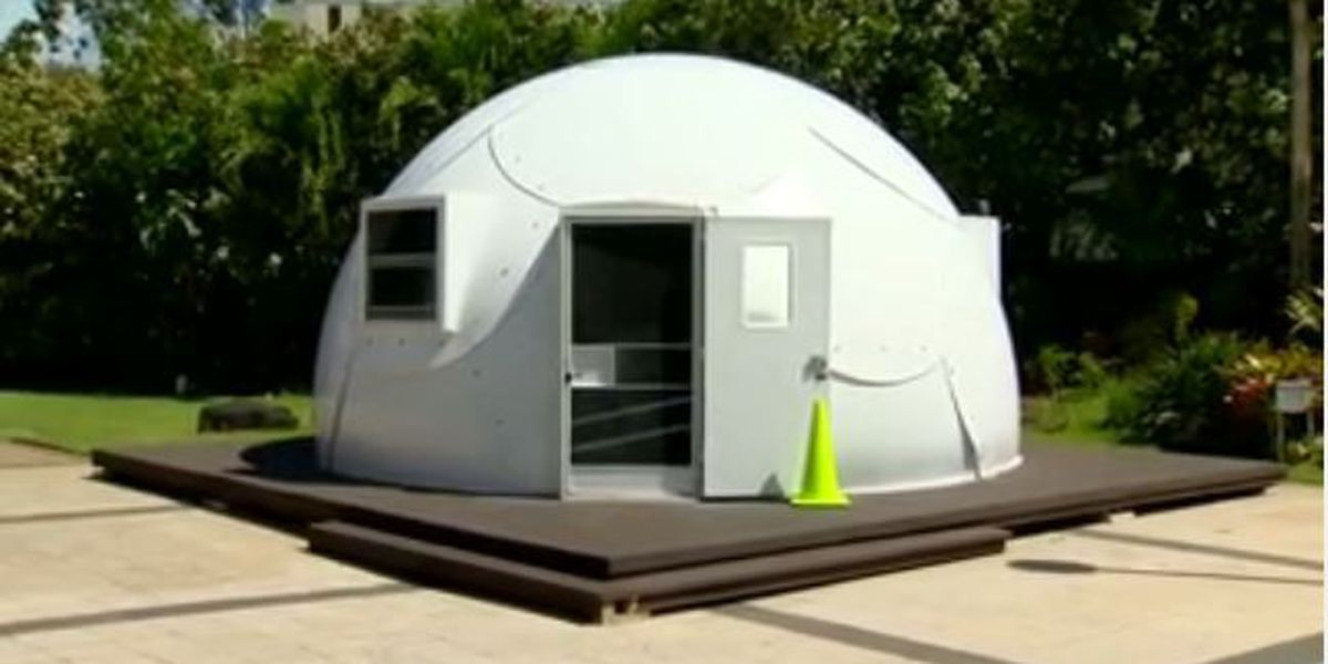 Neighbors raise concerns about plans for Windward Oahu homeless 'igloo' shelter