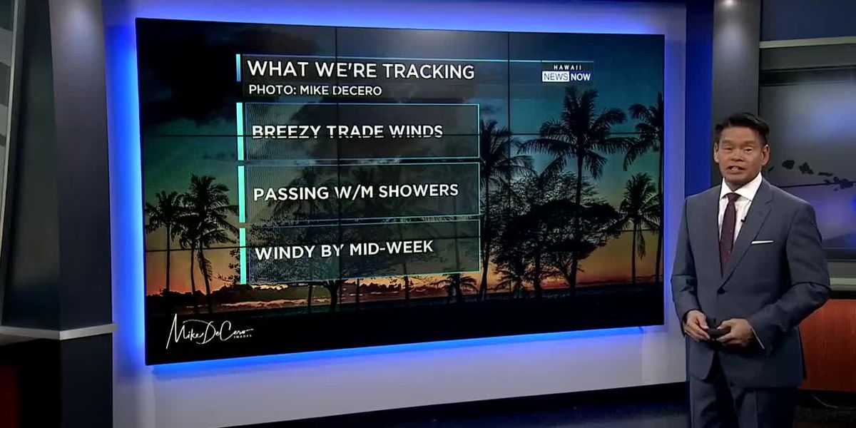 Forecast: Breezy trade winds heading into the weekend